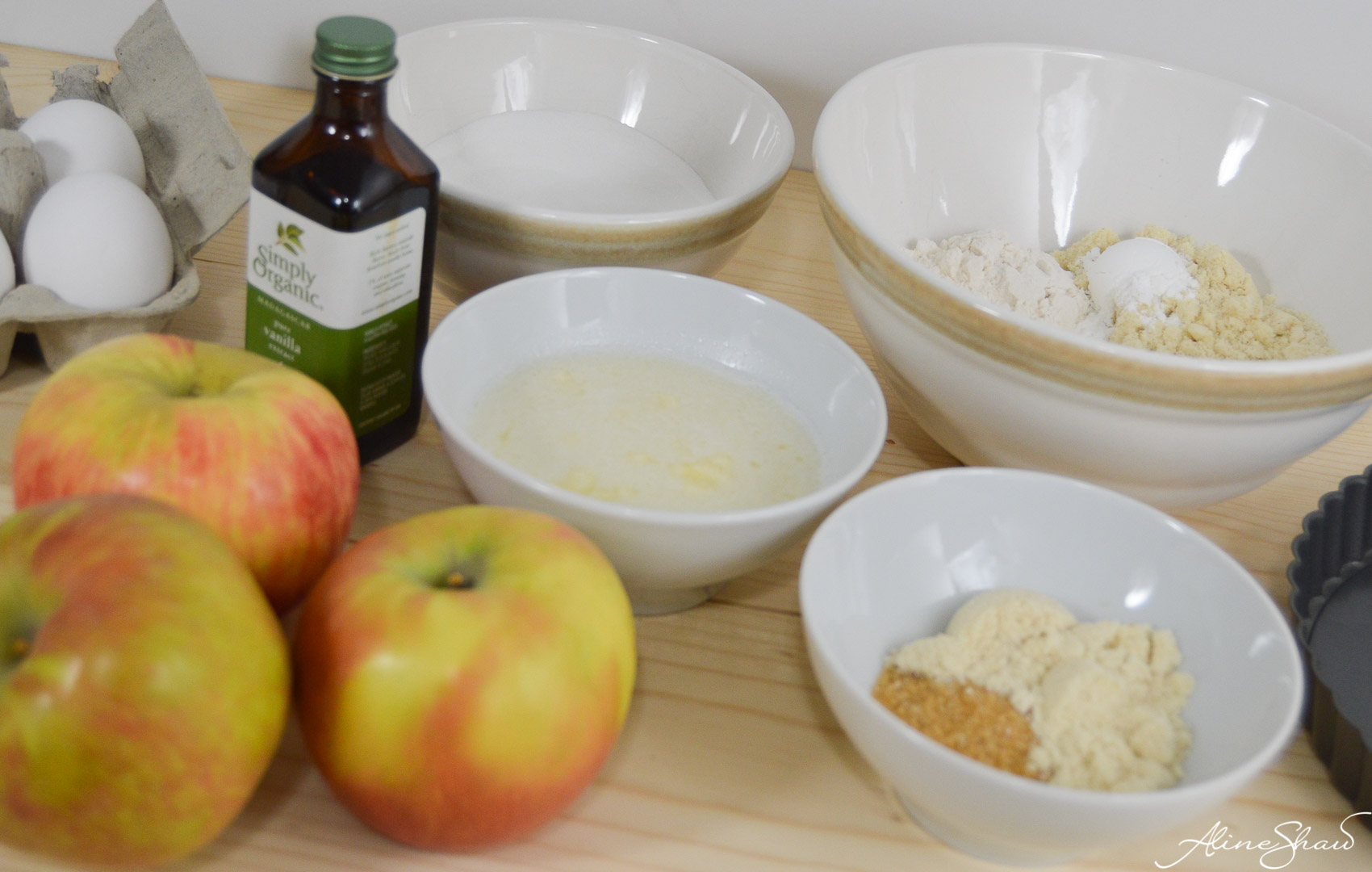 Apple Tart Cake Prep