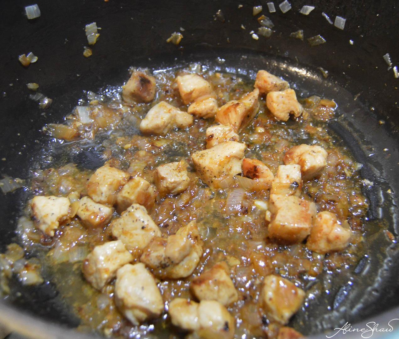 Green Lentil Pork Stew prep