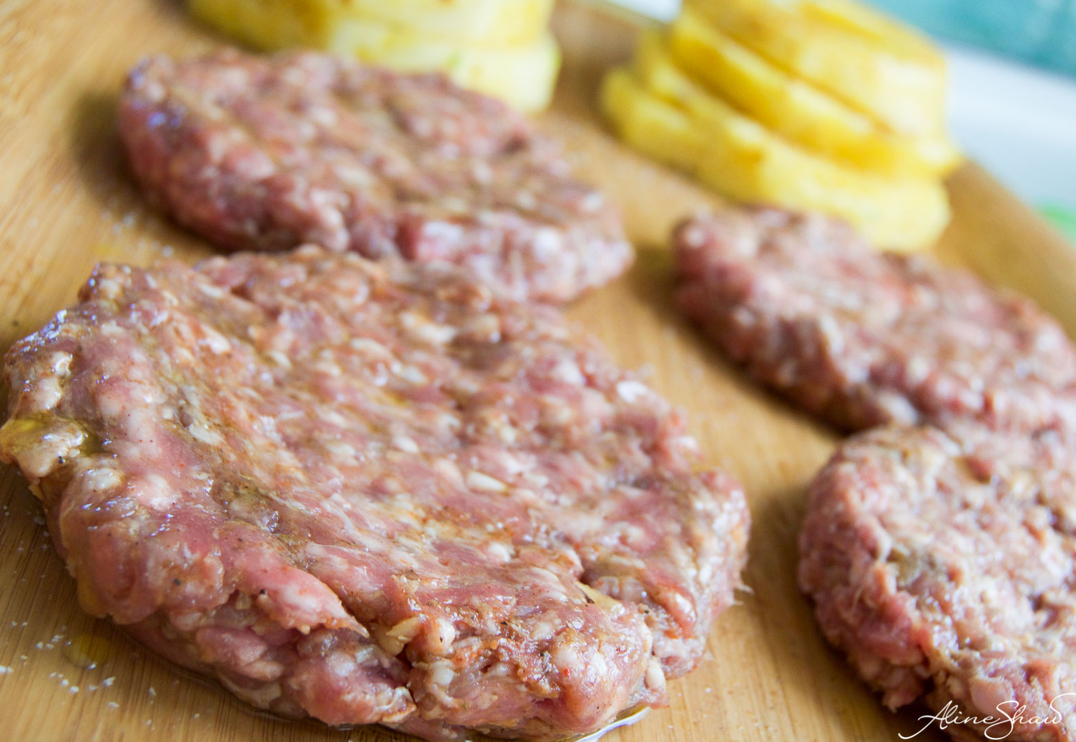 Pineapple Lamb Burgers