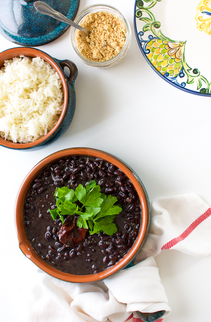 Brazilian vegan black beans recipe