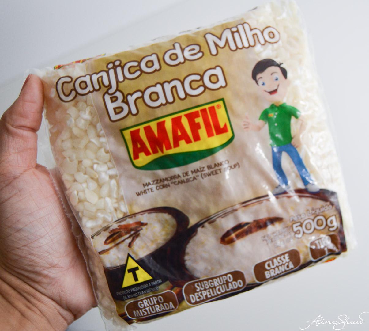 Canjica,Brazilian White Corn and Coconut Porridge - Prep