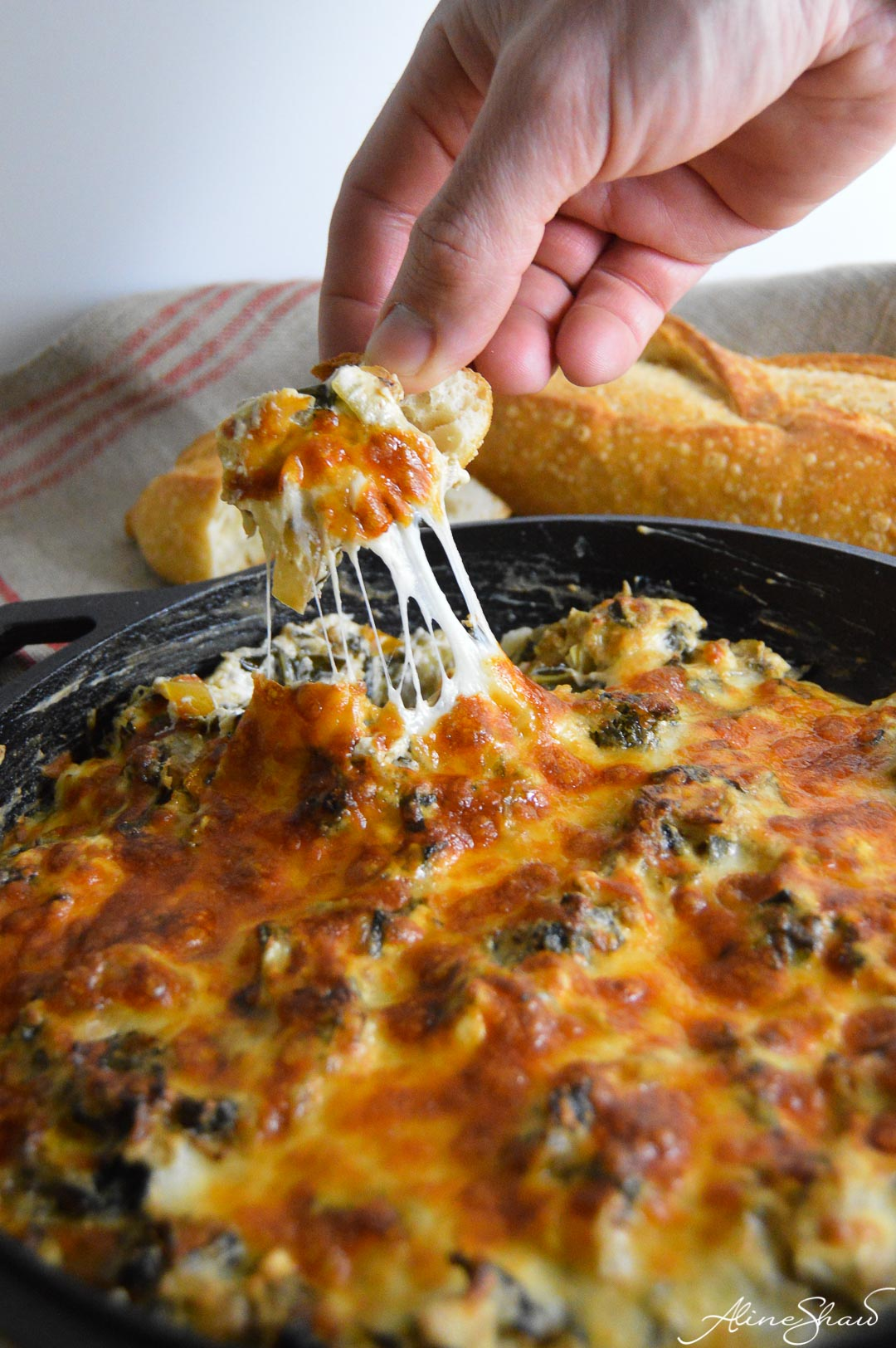 Cheesy Collard Greens Dip