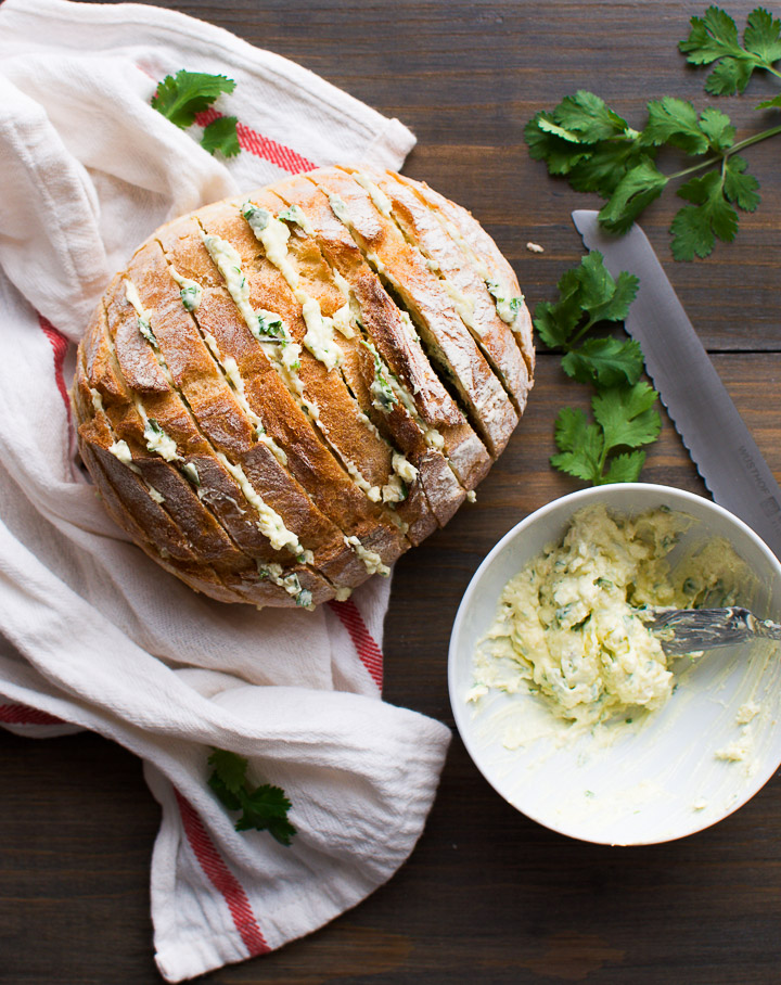 Cilantro Garlic Bread