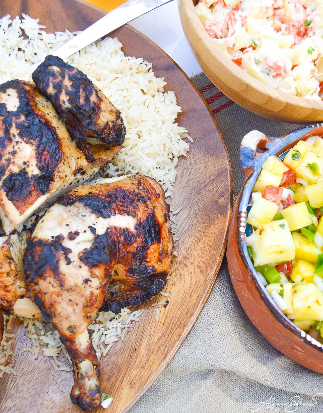 grilled butterflied chicken