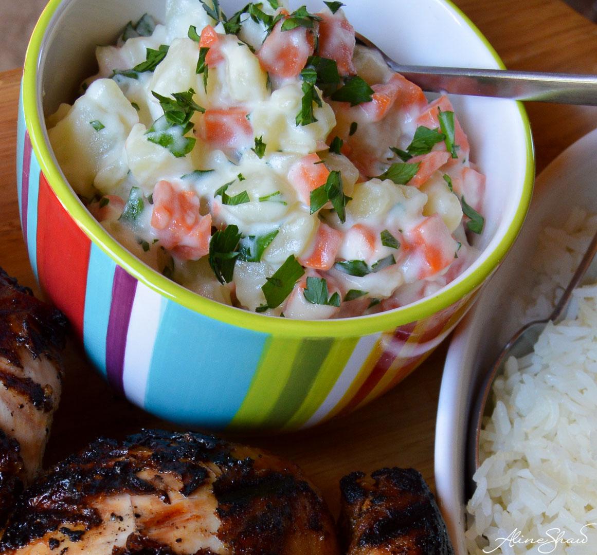 mayo potato salad | salada de batata