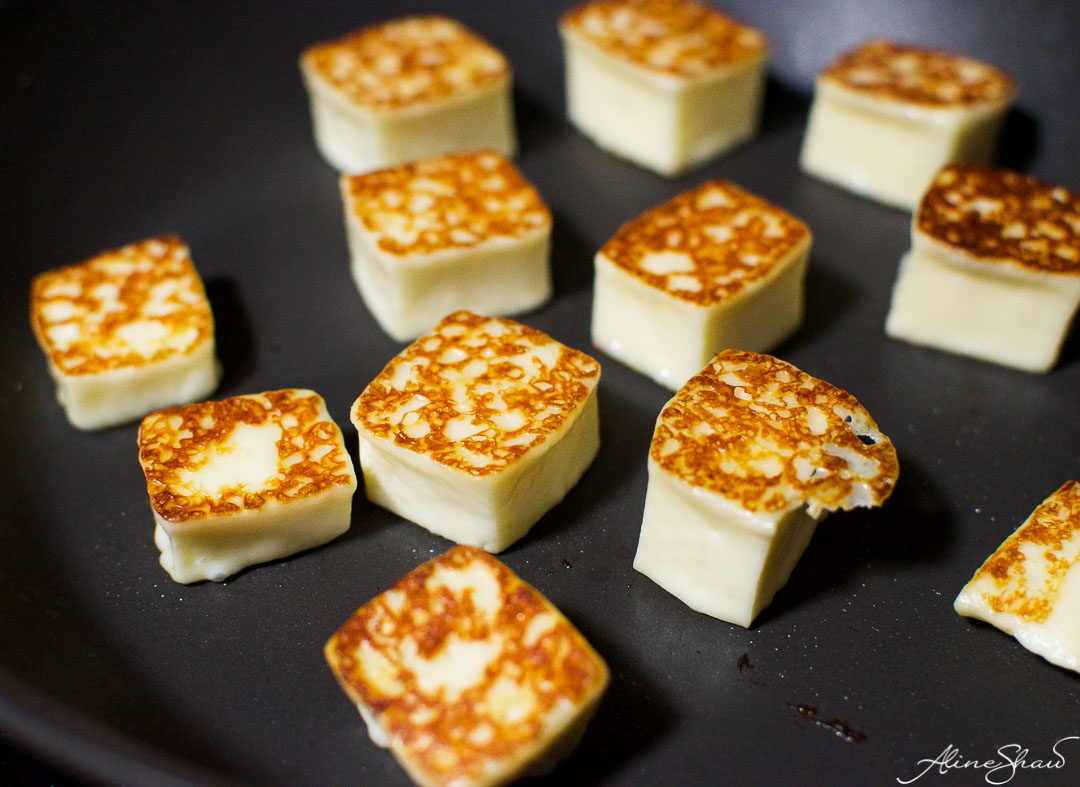 grilled queijo coalho cheese