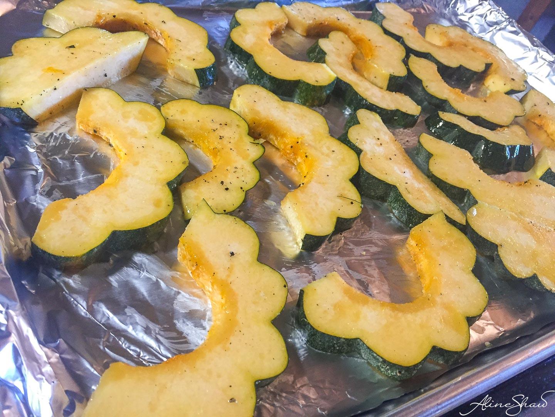 Acorn Squash Salad - prep