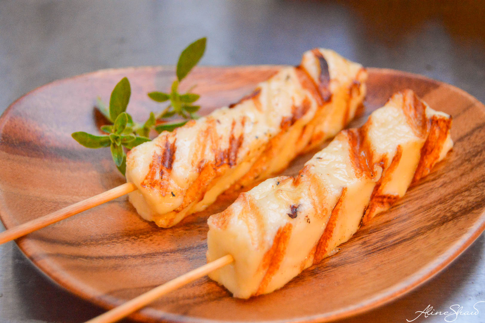 Grilled Brazilian Coalho Cheese for Tomato Salad Recipe with Balsamic Vinegar.
