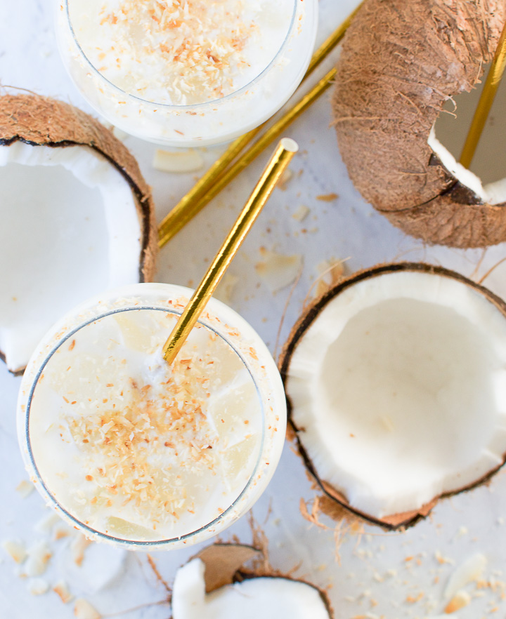 Batida de coco - Brazilian Coconut Cocktail, a classic tropical drink