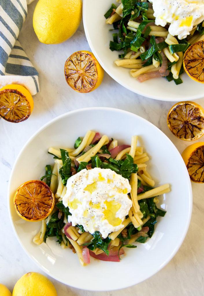 Collard Greens Pasta
