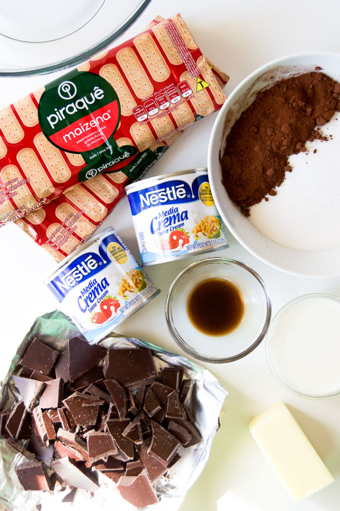 Pave de Chocolate - no bake chocolate biscuit cake ingredients