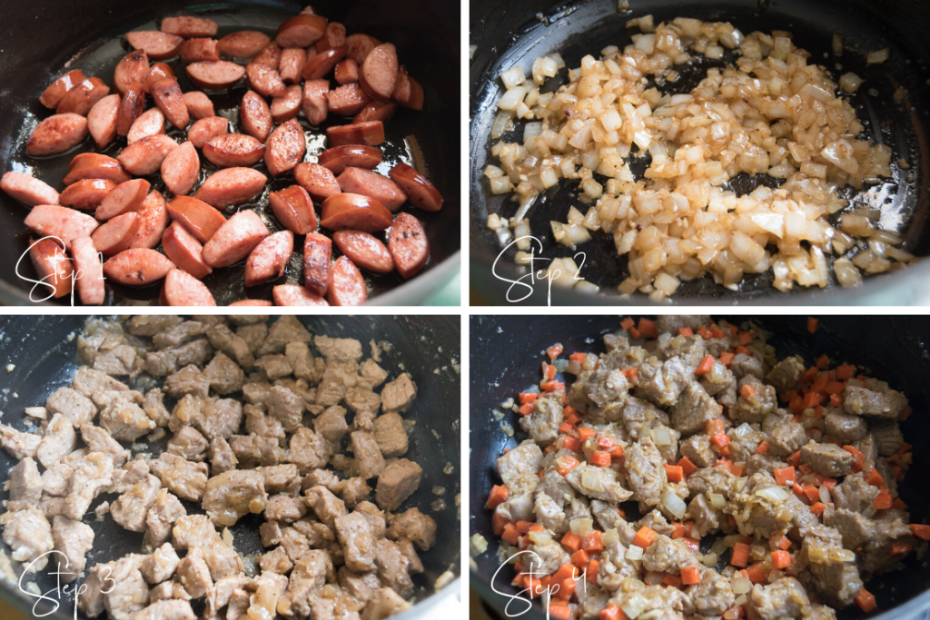 Lentil Stew with Sausage step by step instructions part 1