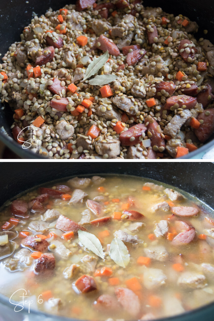 Lentil Stew with Sausage step by step instructions part 2