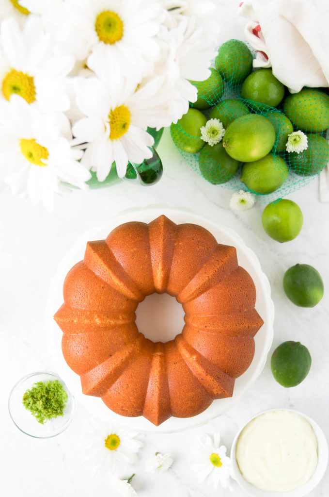 key lime cake recipe - key lime bundt cake fresh from the oven