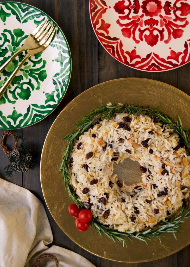 Festive Brazilian Christmas rice dish