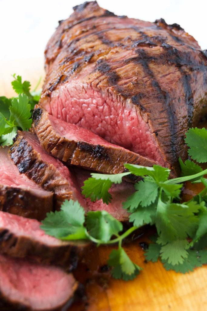 Tri tip marinade recipe, after grilling and slicing.