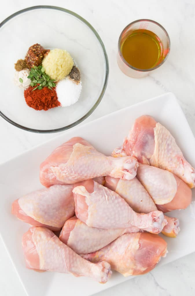 Ingredients for a Baked Chicken Legs recipe